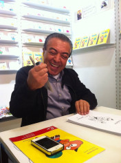 Mauricio de Sousa zeichnet an unserem Messestand auf der Frankfurter Buchmesse …