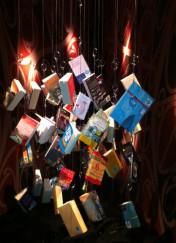Abhängende Neuseeländer auf der Buchmesse Frankfurt